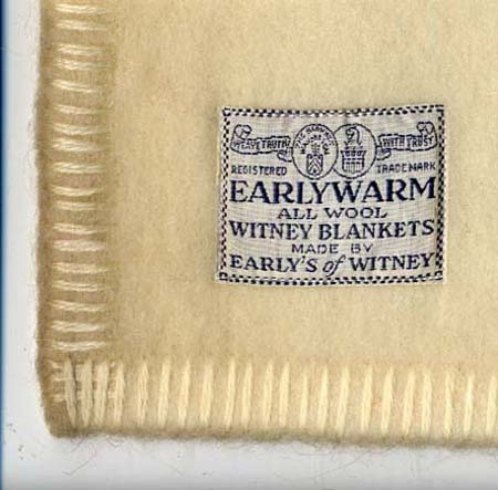 'Earlywarm' brand blanket made by Charles Early and Co. Ltd, 20th century.